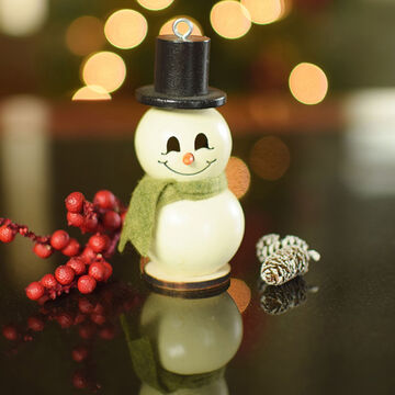 Meadowbrooke Gourds Lil Meadowbrooke Short Snowman Gourd