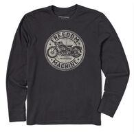 Life is Good Men's Freedom Machine Motorcycle Crusher Long-Sleeve T-Shirt