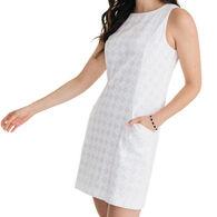 Southern Tide Women's Paislee White Diamond Jacquard Shift Dress