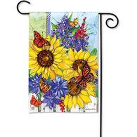BreezeArt Butterflies And Blossoms Garden Flag