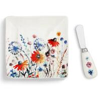 Big Sky Carvers Meadow Flowers Plate & Spreader Set