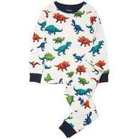 Hatley Boy's Dino Herd Organic Cotton Pajama Set