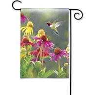 BreezeArt Hummingbird Heaven Garden Flag