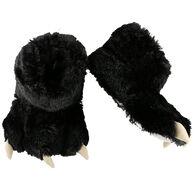 Lazy One Boy's & Girls' Black Bear Paw Slipper
