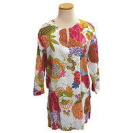 KikiSol Women's Indian Tropical Long-Sleeve Tunic Cover Up