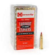 Hornady Varmint Express 17 HMR 17 Grain V-Max Rimfire Ammo (50)
