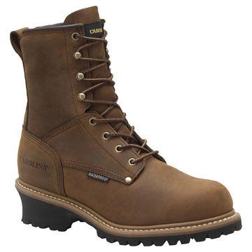 Carolina Mens 8 Waterproof Insulated Steel Toe Logger Work Boot, 600g