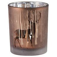 Park Designs Forest Silhouette Deer Votive Candle Holder