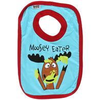 Lazy One Toddler Boys' Moosey Eater Bib