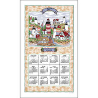 Kay Dee Designs 2022 Maine Lighthouse Collage Calendar Towel