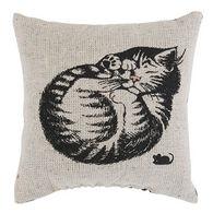 """Maine Balsam Fir 4"""" x 4"""" Small Sleeping Cat Pillow"""