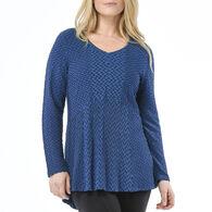 Habitat Women's Wave Knit Swing Tee Long-Sleeve Shirt