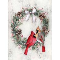 LPG Greetings Cardinal Wreath Boxed Christmas Cards