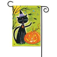 BreezeArt Black Cat Magic Garden Flag
