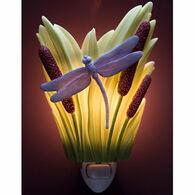 Ibis & Orchid Design Dragonfly & Cattails Nightlight