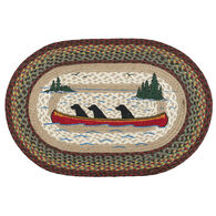 Capitol Earth Labs In Canoe Oval Patch Braided Rug