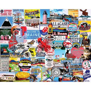 White Mountain Jigsaw Puzzle - I Love Maine