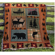 Manual Woodworkers & Weavers Bear Lodge Tapestry Throw