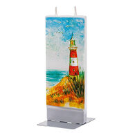 Flatyz Candle - Red and White Lighthouse