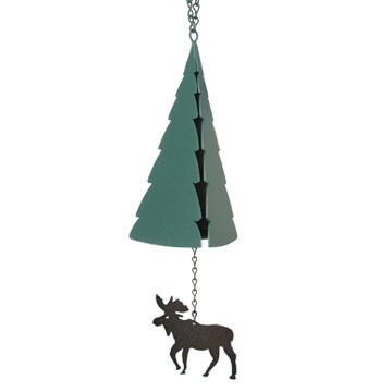 North Country Wind Bells Mt. Katahdin Bell with Moose Windcatcher