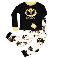 Lazy One Boys' Bat Moose PJ Set