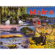 Maine Scene Maine 2021 Engagement Calendar with Gift Box
