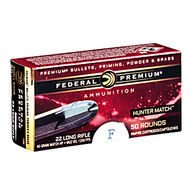 Federal Premium Hunter Match 22 LR 40 Grain NPLHP Rimfire Ammo (50)