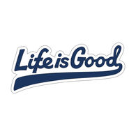Life is Good Ballyard Script Small Die Cut Decal