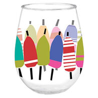 Cape Shore Maine Buoys Wine Tumbler
