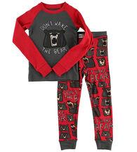 Lazy One Boys' Don't Wake The Bear Pajama Set