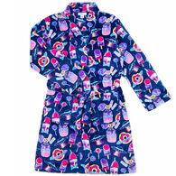best sneakers 7424f 81bda Candy Pink Girl s Galaxy Food Fleece Robe