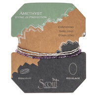 Scout Curated Wears Women's Delicate Stone Amethyst Bracelet/Necklace