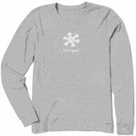 Life is Good Women's Snowflake Vintage Crusher Long-Sleeve T-Shirt