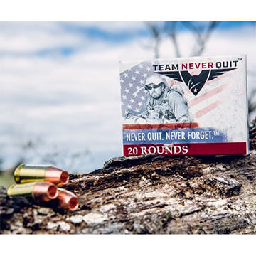 Team Never Quit 45 Auto 155 Grain Frangible HP Reduced Ricochet Handgun Ammo (20)
