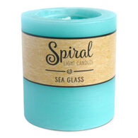 Spiral Light Small Candle - Sea Glass