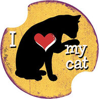 Thirstystone I Love My Cat Carster Coaster Set, 2-Piece
