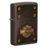 Zippo Harley-Davidson Brown w/ Leather Logo Windproof Lighter