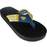 Tidewater Sandals Women's Bee Plaid Flip Flop Sandal