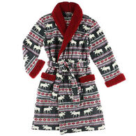 Lazy One Women's Moose Fair Isle Robe