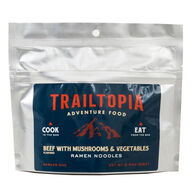 Trailtopia Gluten-Free Ramen Noodles - Beef Flavored w/ Vegetables and Mushrooms - 1 Serving