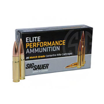 SIG Sauer Elite Performance Match 300BLK 125 Grain OTM Rifle Ammo (20)