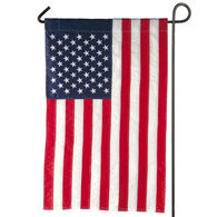 Evergreen American Flag Applique Garden Flag