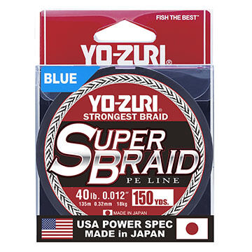 Yo-Zuri SuperBraid Saltwater Fishing Line - 150 Yards