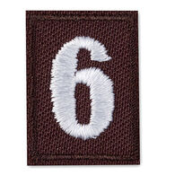 Girl Scouts Official Brownie Iron-On Troop Numeral