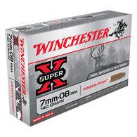 Winchester Super-X 7mm-08 Remington 140 Grain Power-Point Rifle Ammo (20)