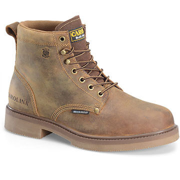 Carolina Shoe Mens 6 Soft Toe Smooth Sole Waterproof Work Boot