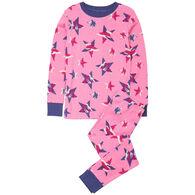 Hatley Girl's Twinkle Stars Organic Cotton Pajama Set