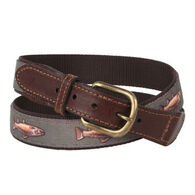 Croakies Men's Meridian Fins, Fur & Feathers Belt