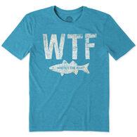 Life is Good Men's WTF Fish Cool Short-Sleeve T-Shirt