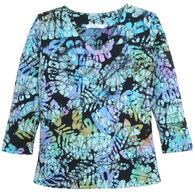 Su Placer Women's Marcea V-Neck 3/4-Sleeve Top